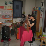 """""""In viaggio col kamishibai"""" presso la biblioteca di Albano S.Alessandro Con l'educatrice Monia Fratus e la flautista Euridice Pezzotta"""