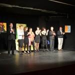 Spettacolo teatrale Ponteranica 2013. Scenografia allestita utilizzando i quadri di Donatella Lotti