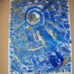 Dipinto di Emma realizzato mentre Donatella eseguiva il Preludio in do magg.dal Clavicembalo ben temperato