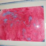 Dipinto spontaneo realizzato da un'alunna di nove anni durante una lezione di ascolto musicale