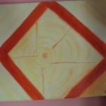 Un corpo di luce in-quadrato (olio su tela 2005)