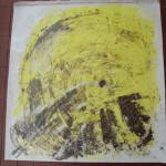 Movimento cosmico (Tecniche miste su tela. Donatella 2011)
